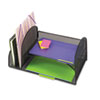 Safco® Desk Organizer, Two Vertical/Two Horizontal Sections, 17 x 10 3/4 x 7 3/4, Black