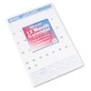 AT-A-GLANCE® Recycled Monthly Wall Calendar, Blue and Red,15 1/2