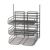 Safco® Panelmate Triple-Tray Organizer, 13 1/2 x 17 1/4, Charcoal Gray