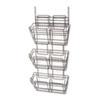 Safco® Panelmate Triple-File Basket Organizer, 15 1/2 x 29 1/2, Charcoal Gray