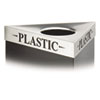Safco® Triangular Lid For Trifecta Receptacle, Laser Cut