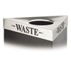Safco® Trifecta Waste Receptacle Lid, Laser Cut