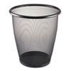 Safco® Onyx Round Mesh Wastebasket, Steel Mesh, 5gal, Black