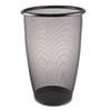Safco® Onyx Round Mesh Wastebasket, Steel Mesh, 9gal, Black