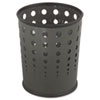Safco® Bubble Wastebasket, Round, Steel, 6 gal, Black