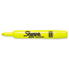 Sharpie Accent Tank Style Highlighter, Chisel Tip, Fluorescent Yellow, 12/Pk