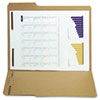 S J Paper Reinforced Kraft Folder, Two Fasteners, 1/3 Cut Top Tab, Letter, Brown, 50/Box