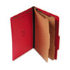 S J Paper Expanding Classification Folder, Legal, Six-Section, Ruby Red, 15/Box