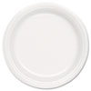 SOLO Cup Company Foam Plate, 9 Diameter, White, 125/Pack, 500/Carton