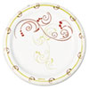 SOLO Cup Company Symphony Paper Dinnerware, Mediumweight Plate, 6