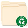 Smead® 100% Recycled File Folders, 1/3 Cut, One-Ply Top Tab, Letter, Manila, 100/Box