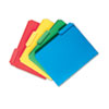 Smead® Waterproof Poly File Folders, 1/3 Cut Top Tab, Letter, Assorted, 24/Box