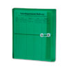 Smead® Poly String & Button Booklet Envelope, 9 3/4 x 11 5/8 x 1 1/4, Green, 5/Pack
