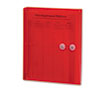 Smead® Poly String & Button Booklet Envelope, 9 3/4 x 11 5/8 x 1 1/4, Red, 5/Pack