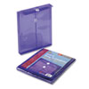 Smead® Poly String & Button Envelope, 9 3/4 x 11 5/8 x 1 1/4, Purple, 5/Pack