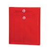 Smead® Poly String & Button Envelope, 9 3/4 x 11 5/8 x 1 1/4, Red, 5/Pack