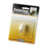 Softalk Twisstop Rotating Phone Cord Detangler, Ivory