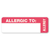 Tabbies® Medical Labels for Allergy Warnings, 1 x 3, White, 500/Roll