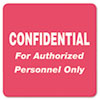 Tabbies® Medical Labels for Confidential, 2 x 2, Red, 500/Roll