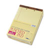 2-Hole Punched Perforated Pads, Lgl Rule, Ltr, Canary, 50 Sheet Pads, 12/Pack