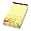TOPS® The Legal Pad Legal Rule Perforated Pads, 8-1/2 x 14, Canary, 50 Sht Pads, 12/Pk