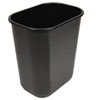 UNISAN Soft-Sided Wastebasket, 28qt, Black