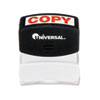 Universal® Message Stamp, COPY, Pre-Inked/Re-Inkable, Red