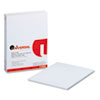 Universal® Glue Top Writing Pads, Wide Rule, Letter, White, 50-Sheet Pads/Pack, Dozen