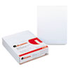 Universal® Glue Top Writing Pads, Narrow Rule, Letter, White, 50-Sheet Pads/Pack, Dozen