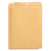 Universal® Kraft Clasp Envelope, Side Seam, 32lb, 9 x 12, Light Brown, 100/Box