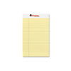 Universal® Perforated Edge Writing Pad, Jr. Legal Rule, 5 x 8, Canary, 50-Sheet, Dozen