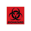 Rubbermaid® Commercial Biohazard Decal, 5-3/4 x 6, Fluorescent Red