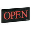 Newon OPEN Horizontal Sign w/Squared Letters, 13 1/4 x 1 x 6, Black
