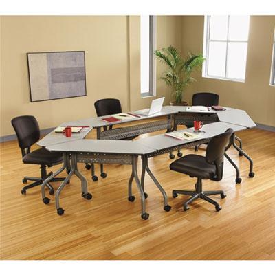 Mahogany//Black Iceberg 68058 OfficeWorks Mobile Training Table 60w x 18d x 29h