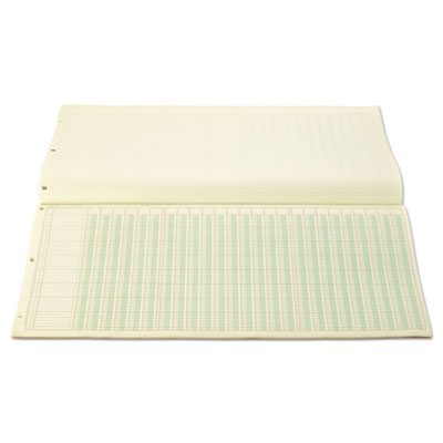 50-Sheet Pad Letter Two-Sided Four Eight-Unit Columns Wilson Jones G7204A Accounting Pad