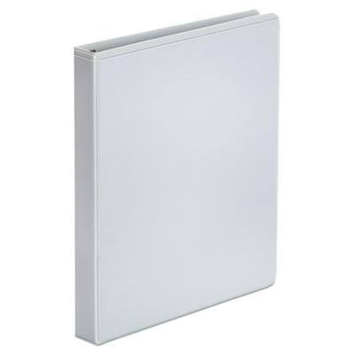 Universal 3 Ring Binders Economy View Round Ring 1//2 in White 6 Pack