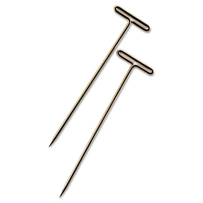 silver push pins
