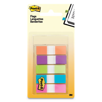 100 Flags//Dispenser Post-it 680YW2 Standard Page Flags in Dispenser Yellow