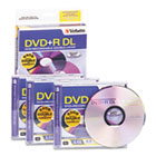 Dual-Layer DVD+R Discs, 8.5GB, 2.4x, w/Jewel Cases, 3/Pack, Silver VER95014