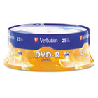DVD-R Discs, 4.7GB, 16x, Spindle, Matte Silver, 25/Pack VER95058