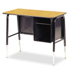 Jr. Executive Desk, 34w x 20d x 30h, Medium Oak VIR765084