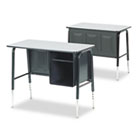 Jr. Executive Desk, 34w x 20d x 30h, Gray Nebula VIR765091