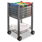 Sidekick File Cart, One-Shelf, 13-3/4w x 15-1/2d x 26-1/4h, Matte Gray VRTVF52002
