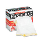 Super Value Pack Trash Bags, 13gal, .69mil, 24 x 27 3/8, White, 50/Box WBIHAB6DK50