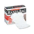 Super Value Pack Trash Bags, 13gal, .6mil, 23 3/4 x 28, White, 100/Box WBIHAB6FK100