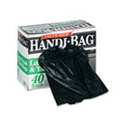Super Value Pack Trash Bags, 33gal, .7mil, 32.5 x 40, Black, 40/Box WBIHAB6FTL40