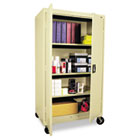 Mobile Storage Cabinet, w/Adjustable Shelves 36w x 24d x 66h, Putty ALECM6624PY