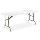 Resin Rectangular Folding Table, w/ Radius Edge, 72w x 30d x 29h, Platinum ALE65500