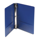 "Locking No-Gap Round Ring Binder With Label Holder, 1"" Capacity, Dark Blue WLJ36414NBL"