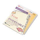 Gold Pro Insertable Tab Index, Clear 5-Tab, Letter, Buff Sheets WLJ54125